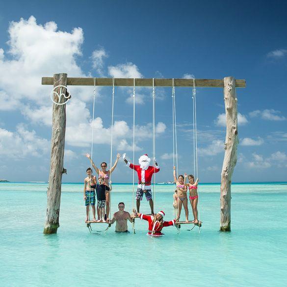Father Christmas at Kandima Maldives.