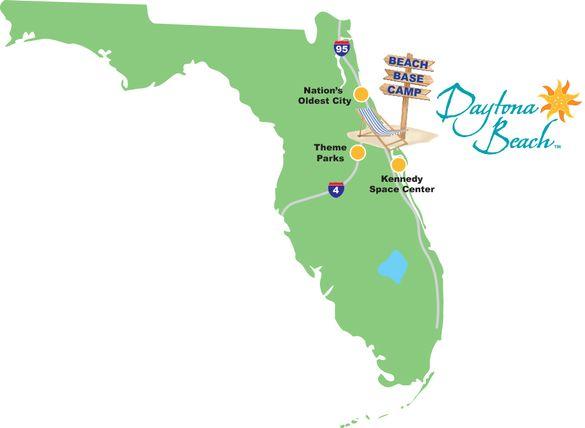 Daytona Beach's location makes it a perfect beach base camp for exploring Central Florida