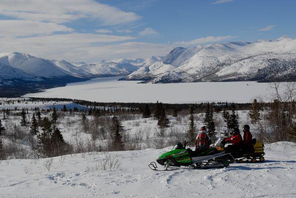 Snowmobiling in the Yukon