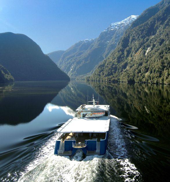 Cascadia enters a fjord.
