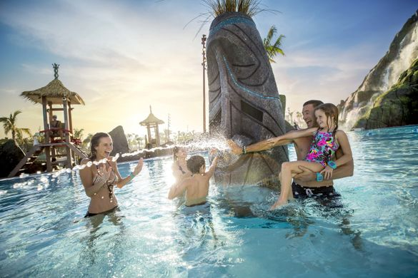 """Use promo code """"SAVE5"""" on VisitOrlando.com purchases from March 19 – April 15 to save an extra 5 percent at checkout on all tickets Visit Orlando sells, including to attractions like Universal's Volcano Bay™ Water Theme Park, pictured here."""