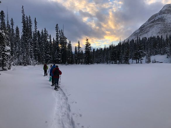 Snowshoeing on the Continental Divide near Banff
