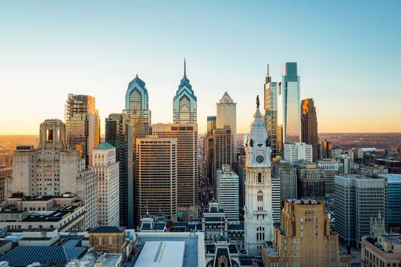 Philadelphia's skyline. Image courtesy of Kyle Huff for PHLCVB.