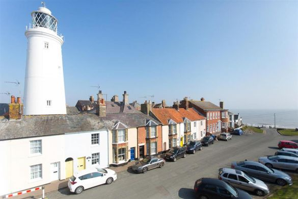 View from Lighthouse Loft, Southwold