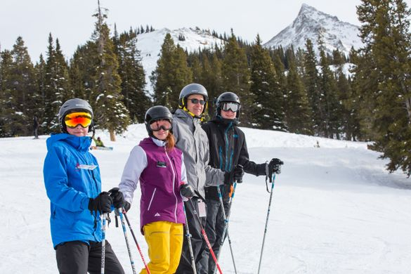 Family-friendly skiing at Crested Butte Mountain Resort.