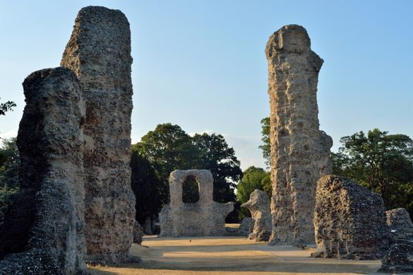 Abbey of St Edmund, Bury St Edmunds, Suffolk celebrating its 1000th anniversary in 2020