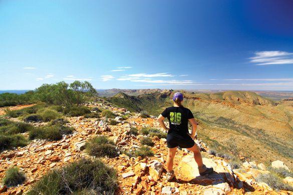 Breathtaking scenery on the Larapinta Trail