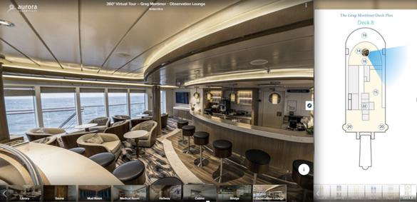 360 Virtual Tour of the Ship Greg Mortimer