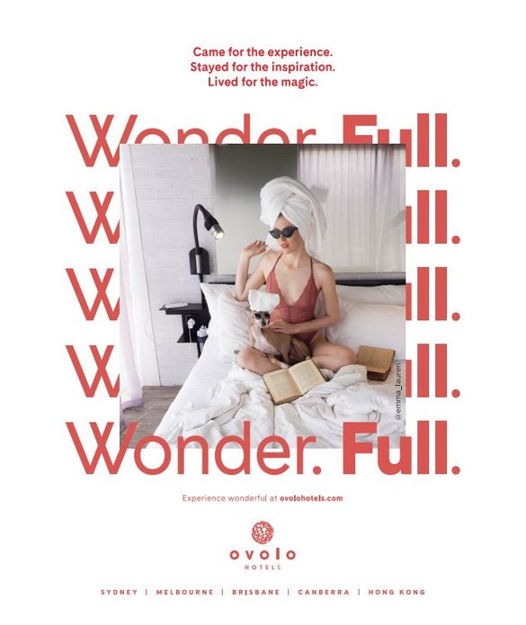 Ovolo Hotels - Wonder. Full. Press Ad (@emma_lauren)