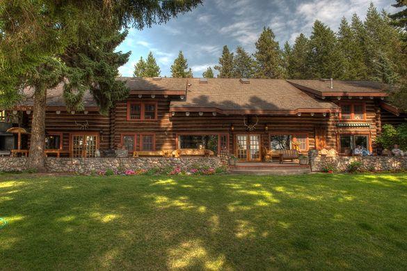 The Main Lodge at Flathead Lake Lodge.