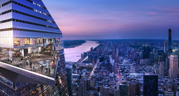 Edge observation deck at Hudson Yards is the highest outdoor sky deck in the Western Hemisphere.