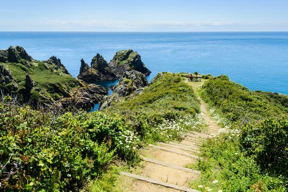 Clifftop walking Guernsey