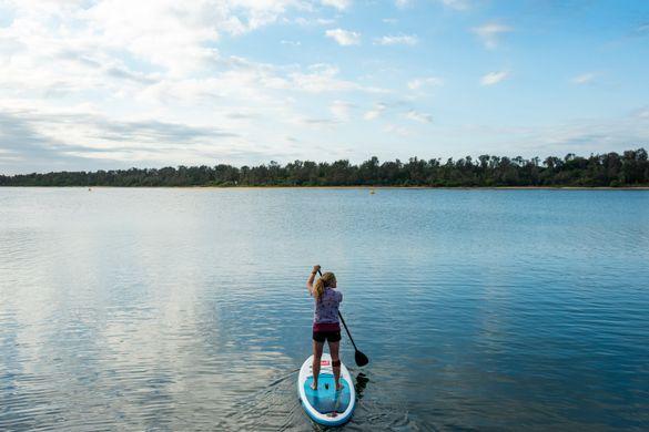 Stand Up Paddleboarding on Gippsland Lakes