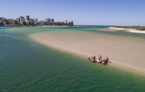 Jet Skis on the Pumicestone Passage, Caloundra, Sunshine Coast
