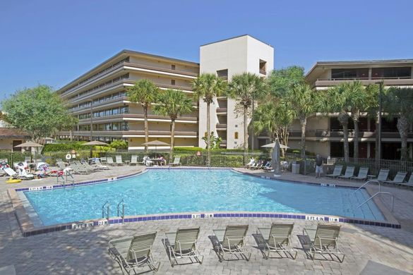 Rosen Inn at Pointe Orlando offers three outdoor swimming pools, a video arcade and plenty of room to roam for a family getaway -- including pets.