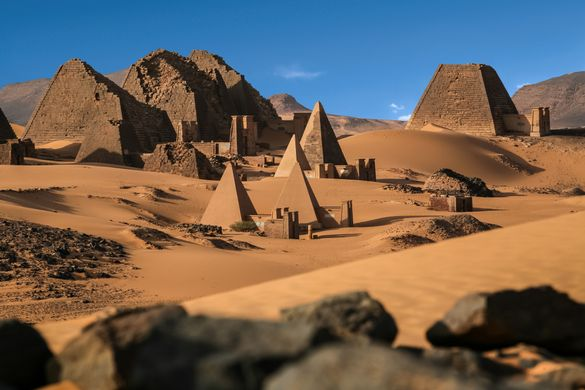 The pyramids at Meroe, a highlight of Arcadia's expedition to Sudan