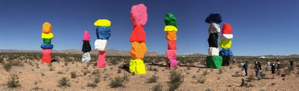 Seven Magic Mountains -- a large-scale, site-specific public artwork by the artist Ugo Rondinone