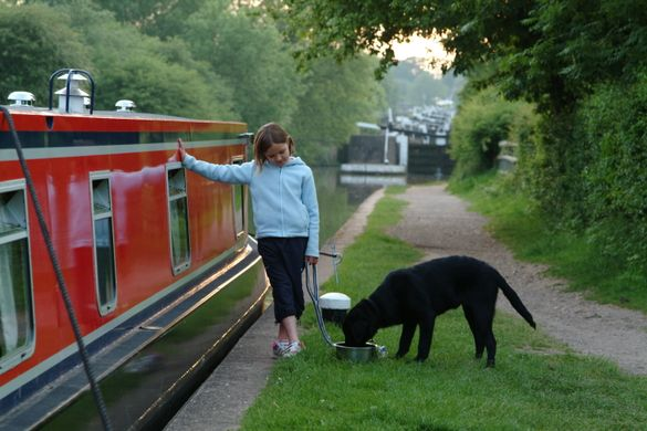 Family canal boat holiday