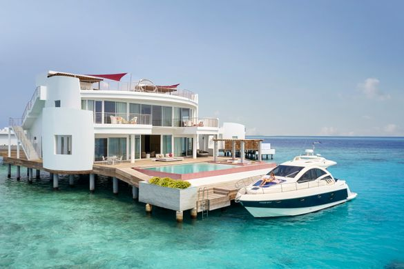 LUX* Overwater Retreat At LUX* North Malé Atoll.
