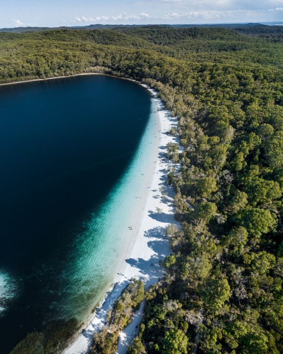 Lake McKenzie and Fraser Island's iconic locations remain untouched and in pristine condition.