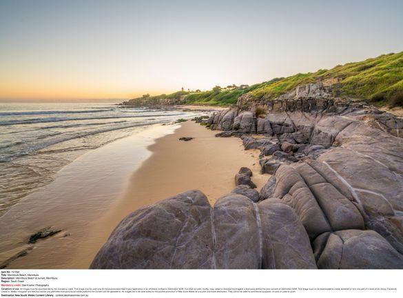 Merimbula Beach at sunset, Merimbula