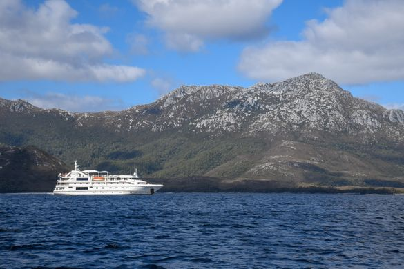 January 12, Coral Discoverer below Mt Rugby, Port Davey