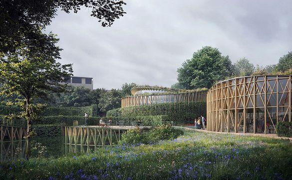 A rendering of the Hans Christian Andersen Garden.