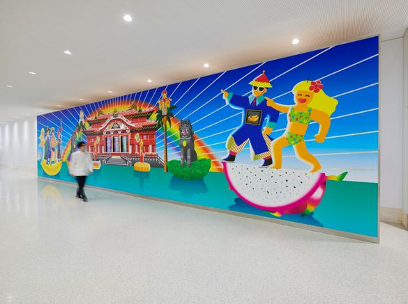 Artist nuQ's installation on display at Naha Airport as part of CULTURE GATE to JAPAN_4