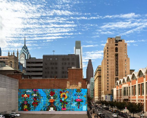 Water Gives Life mural. Photo by Steve Weinik.