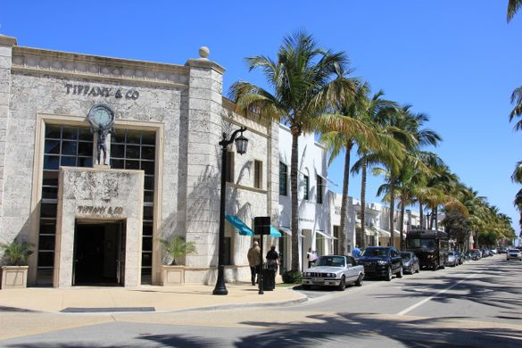 The Palm Beaches - Worth Avenue Street View - Photo credit Worth Avenue Association