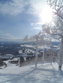 Japan ski area in Hokkaido