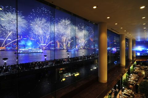 Front-Row Viewing of the Fireworks Display from InterContinental Hong Kong