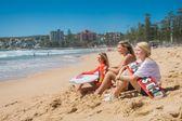 Junior Surfer Cedar Leigh-Jones, Beach Volleyball player Katie Bartoli and Skateboarder Poppy Olsen at Manly Beach