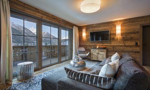 Zari Living Room, Chalet Eden Rock