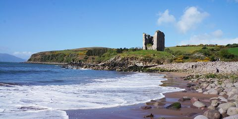 Minard Castle, on the Dingle Way, Kerry Camino