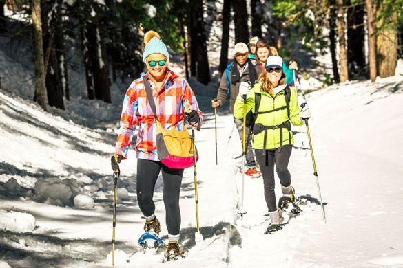 Snowshoeing in Yosemite National Park, Tuolumne County, Northern California