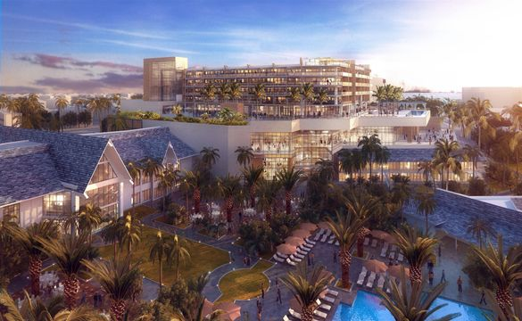 View of new Lanai Tower opening in 2018 at JW Marriott Marco Island