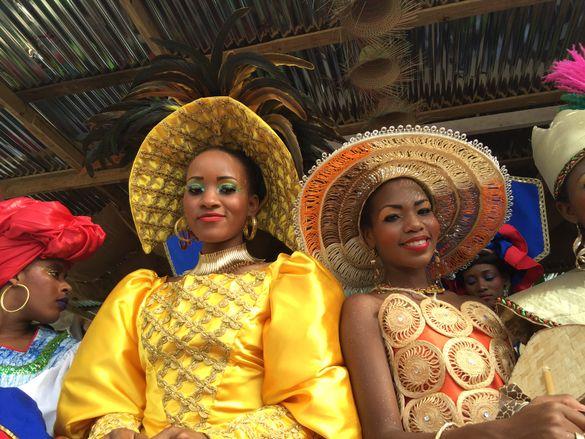 Haitian women celebrate Carnival