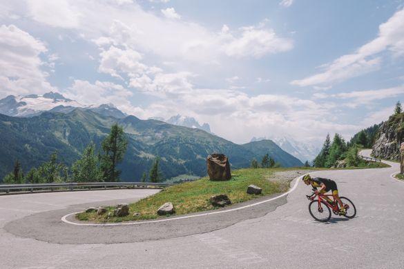 Heading down towards Chamonix