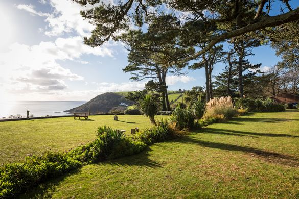 Talland Bay Hotel Cornwall view