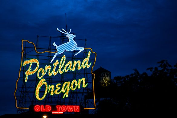 Portland Oregon neon sign