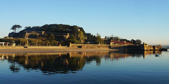 Monterreal Castle, a Parador hotel in Baiona on the Portuguese Coastal Camino route