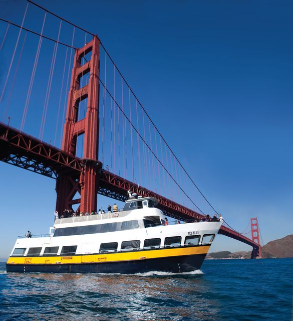 A Blue & Gold Fleet Bay Cruise Adventure is one of eight great attractions from which visitors can choose when using San Francisco C3 tickets.