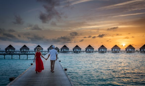 The Maldives is well known for its honeymoon offerings. Image shows Centara Grand Island Resort & Spa.