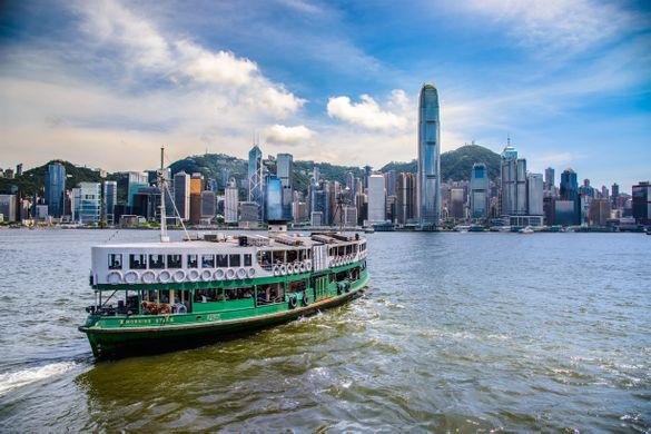 Cruise between Hong Kong Island and Kowloon on the city's famous Star Ferry. This celebrated cross-harbor tradition allows riders to take in panoramic views of the Hong Kong Island coastline.