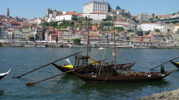 Porto boats on the Camino Portugues route