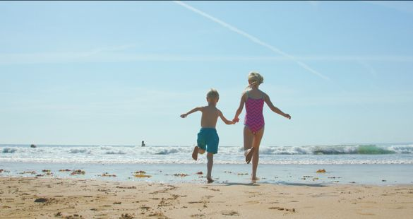 South Devon's beautiful sandy beaches are perfect for children!