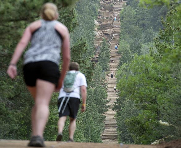Ascend the 2,744 steps of the Manitou Springs Incline Trail