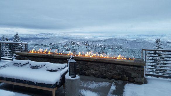 Stein Eriksen Residences Firepit Terrace