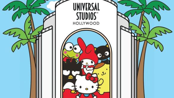 Hello Kitty and her Sanrio friends have debuted at Universal Studios Hollywood